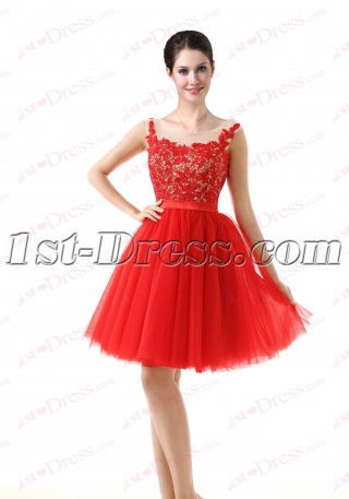 Super Sweet Red Homecoming Gown 2016