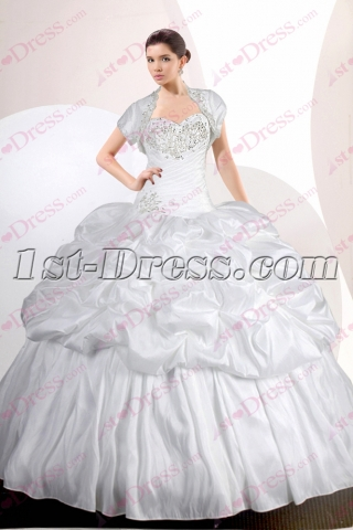 2017 White Quinceanera Dress with Short Jacket