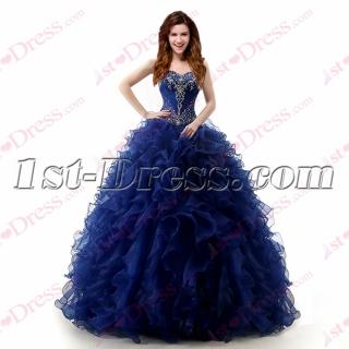 Beautiful Royal Blue Ruffles 2017 Quinceanera Dress