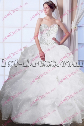 Beautiful White Sweet 15 Gown 2016