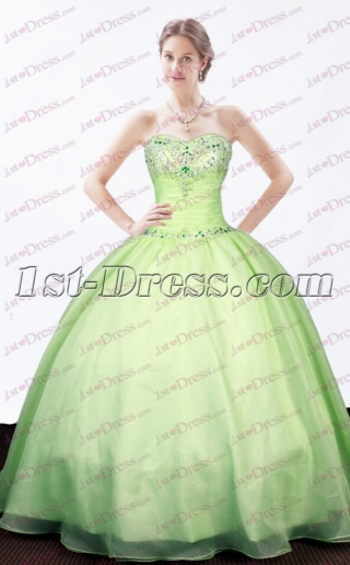Lovely Sage Sweetheart Quinceanera Dress 2017
