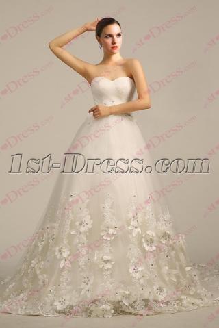 Luxurious Ivory 2017 Wedding Dress