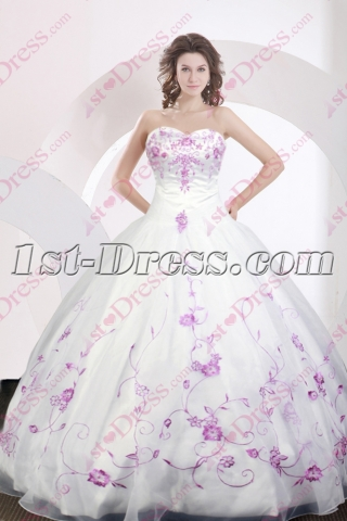 Vintage Embroidery 2016 Quince Gown