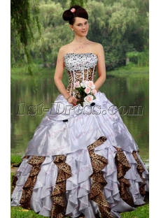 Beautiful Beaded Leopard Quinceanera Dress for 2017