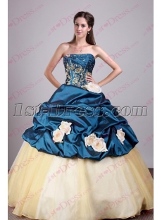Beautiful Navy Blue Sweet 16 Gown