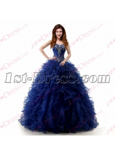 Beautiful Royal Blue Ruffles 2017 Quinceanera Dress
