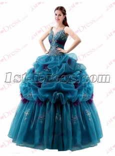 Beautiful Spaghetti Straps 2017 Quinceanera Gown