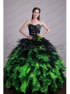 Black and Green 2017 Quince Gown