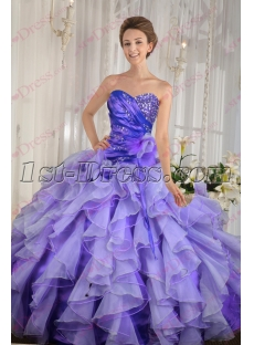 Charming Ruffles Colorful 2016 Quince Dress