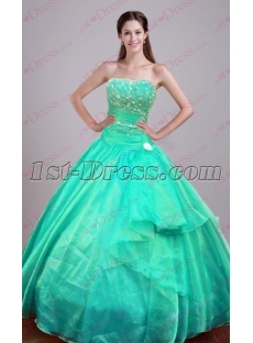 Discount Teal Green 2016 Quinceanera Dresses