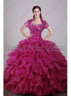 Luxurious Fuchsia 2016 Quinceanera Dress