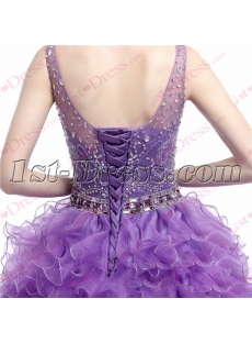 Pretty Lavender Beading Quinceanera Dress for 2017