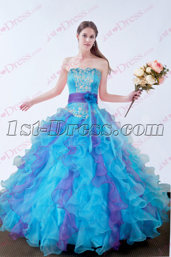 2016 Blue Quinceanera Dresses Fluffy Dress 1st Dress Com