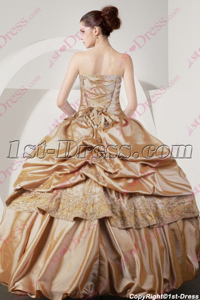 638a542651d Beautiful Champagne Quinceanera Dress with Short Jacket 2016 (Free Shipping)