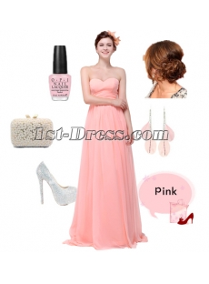 Romantic Empire Chiffon Long Pregnant Formal Prom Party Dress