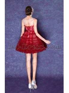 Sweet Modest Short Homecoming Dress with Keyhole