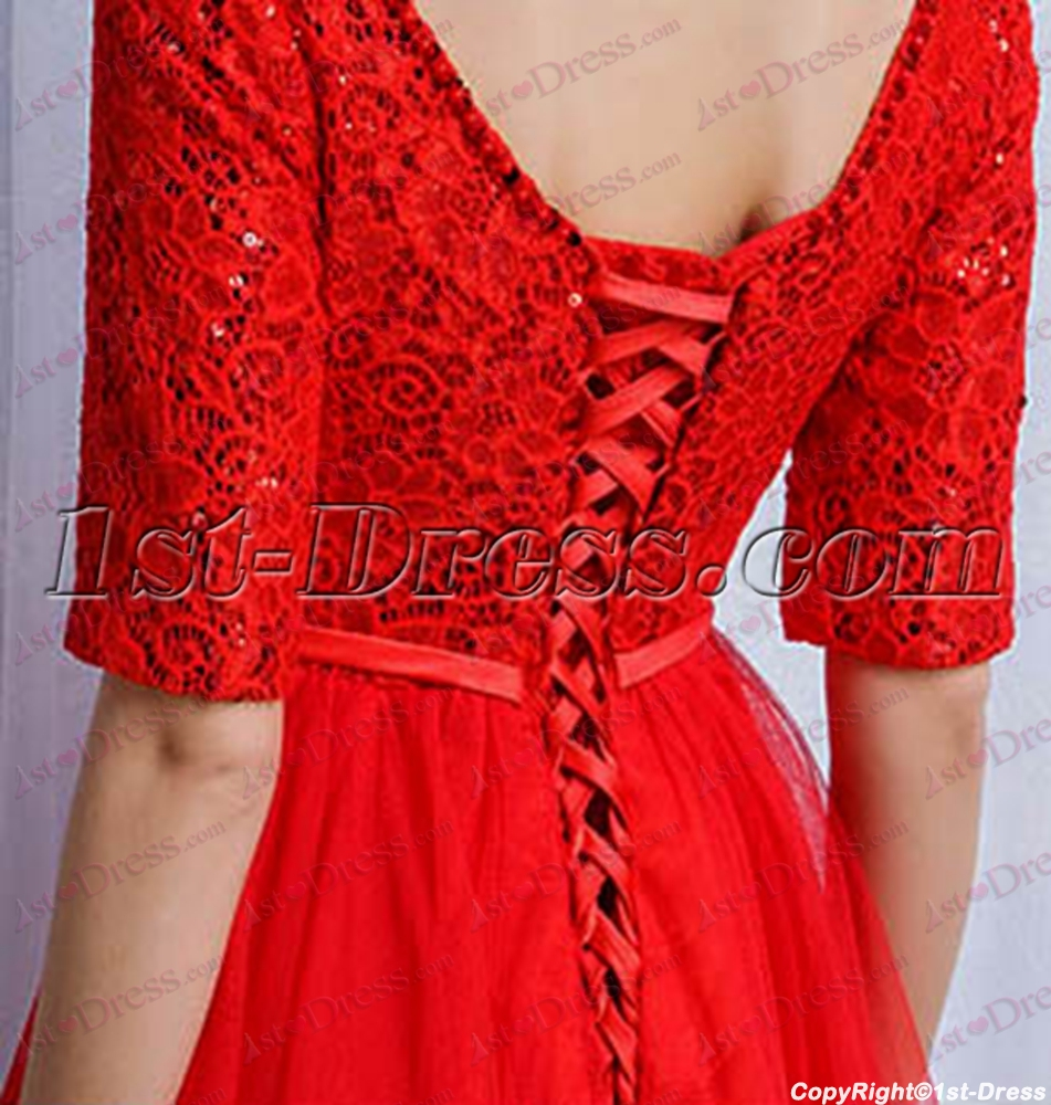 f3891c42cc prev  next. Specifications. Product Name  Red 1 2 Long Sleeves Short Prom  Dress 2017 (Free Shipping). ltem Code  xl004729. Category  Prom Dresses  Short ...