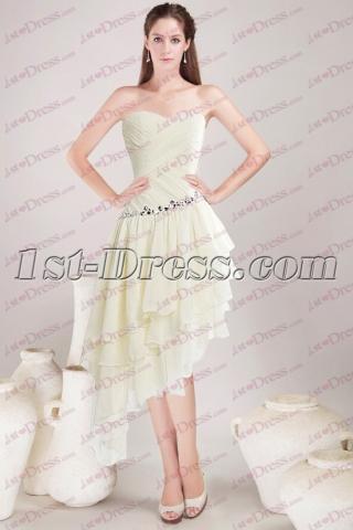 Beautiful Asymmetric Hem Graduation Prom Dresses