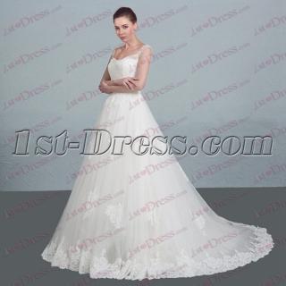Modest Straps 2017 Lace Wedding Dress