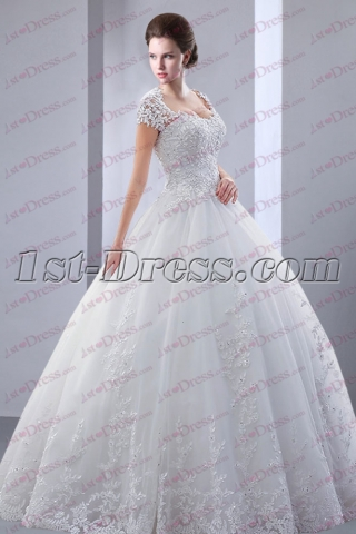 Pretty Full Length 2017 Bridal Gown with Keyhole