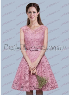 Fantastic Lace Short Bridesmaid Dress for 2017