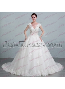 Luxurious Lace Ball Gown Wedding Dress 2017