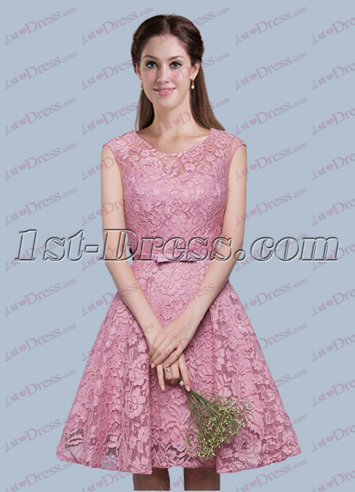 Fantastic Lace Short Bridesmaid Dress For 2017 Loading Zoom