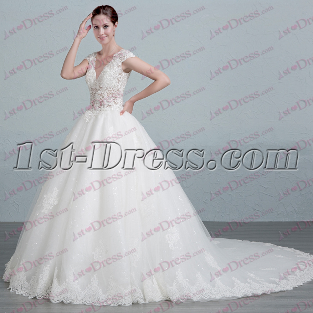 Luxurious Lace Ball Gown Wedding Dress 2017:1st-dress.com
