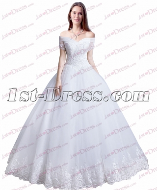 Princess White Off Shoulder Quince Gown Dress
