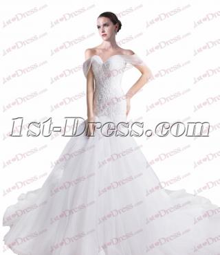 Spring Mermaid Off Shoulder 2017 Wedding Dresses