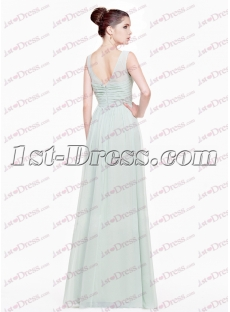 Modest Light Sky Blue Long Prom Dresses