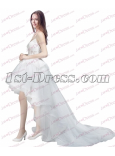 Pretty Summer Beach High Low Wedding Dress