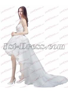 Pretty Summer Beach High Low Wedding Dress