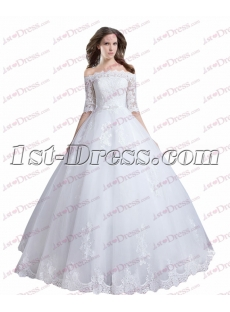 Vintage Off Shoulder Lace Quinceanera Ball Gown for 2017