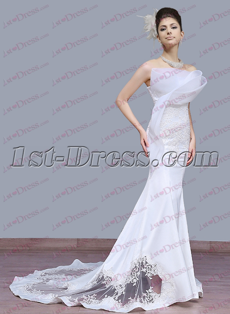 elegant sheath wedding dress 2017 1st