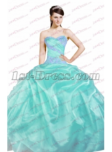 Pretty Puffy 15 Quinceanera Dresses Blue