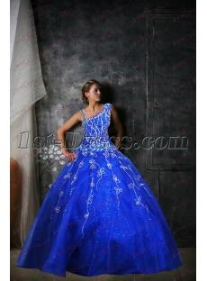 Royal Blue One Shoulder Quinceanera Dress 2017