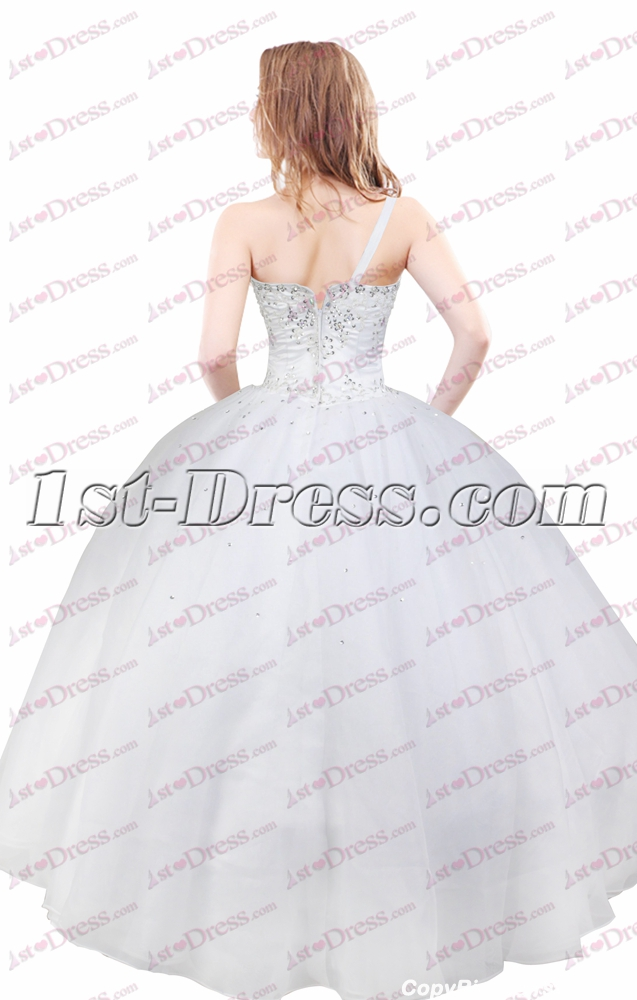 51f7a48d152 Charming Ivory Formal One Shoulder Court Dresses for Sweet 15 (Free  Shipping)