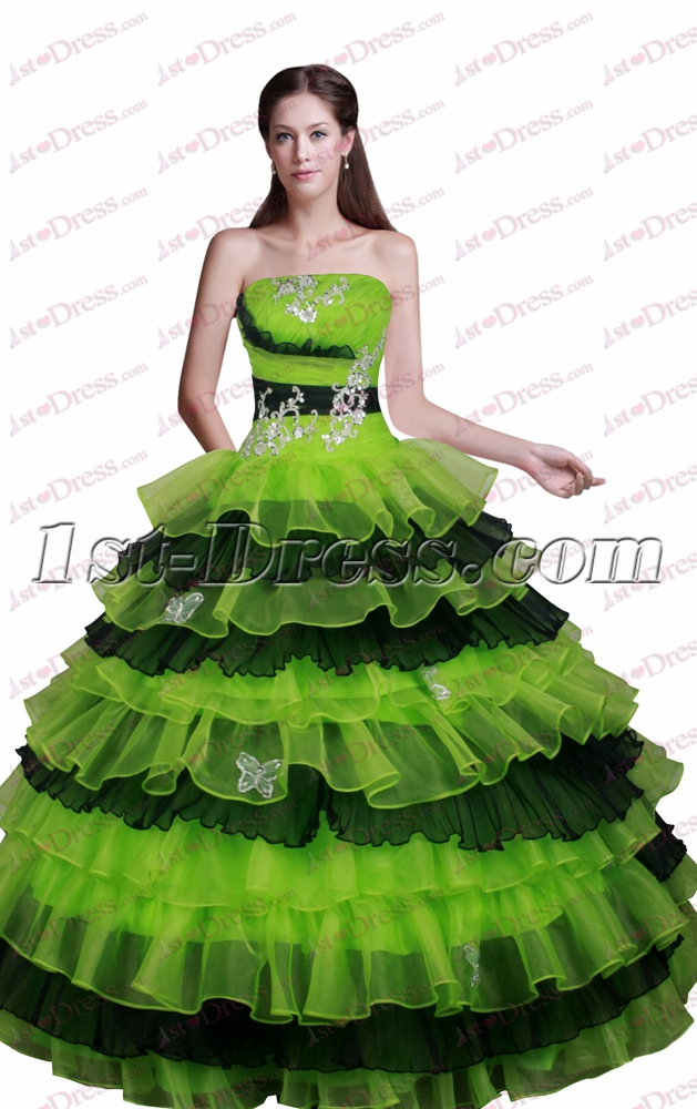 c5207764c98 Lovely Black and Green Quinceanera Dress for 2017 1st-dress.com