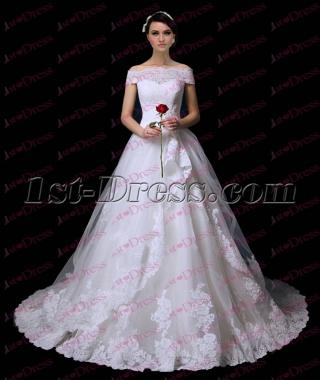 Pretty Off Shoulder Princess Lace Wedding Dress 2017