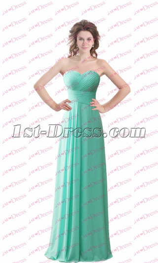 Simple Sweetheart Long Beach Bridesmaid Gowns