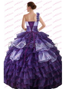 Charming Purple and Lilac One Shoulder Quinceanera Gown 2017