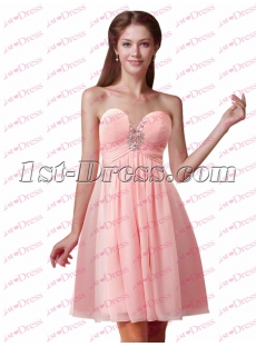 Pretty Pink Sweetheart Short Graduation Dress 2017