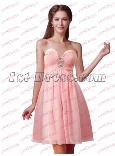 Pretty Pink Sweetheart Short Graduation Dress 2017