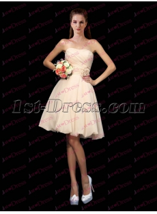 Romantic Pink Taffeta Beach Bridesmaid Dress 2017