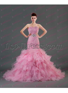 Romantic Sweetheart Pink Mermiad Bridal Gowns 2016