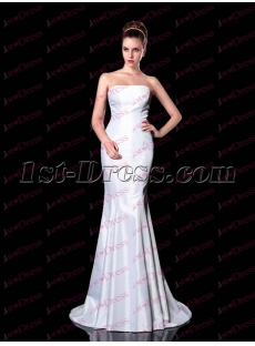 Long evening dresses white
