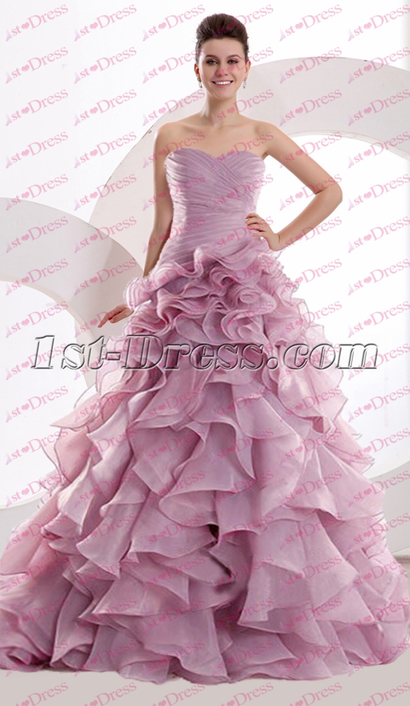 Beautiful Lilac Ruffles Celebrity Dress 2016:1st-dress.com
