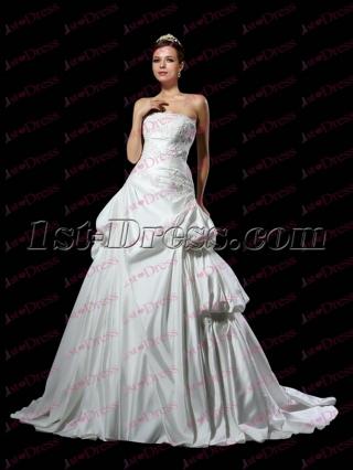 Beautiful 2017 Strapless Princess Wedding Dress