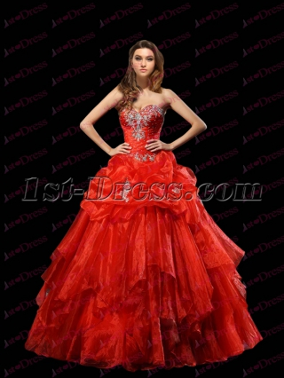 Charming Burnt Orange Ball Gown 2017